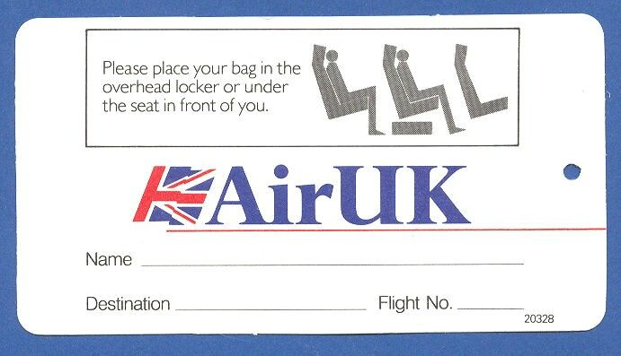 Airuk Airlines Cabin Baggage Tag Images Frompo