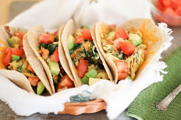 Superfood Breakfast Tacos with Eggs, Sweet Potato, Kale, Avocado and ...