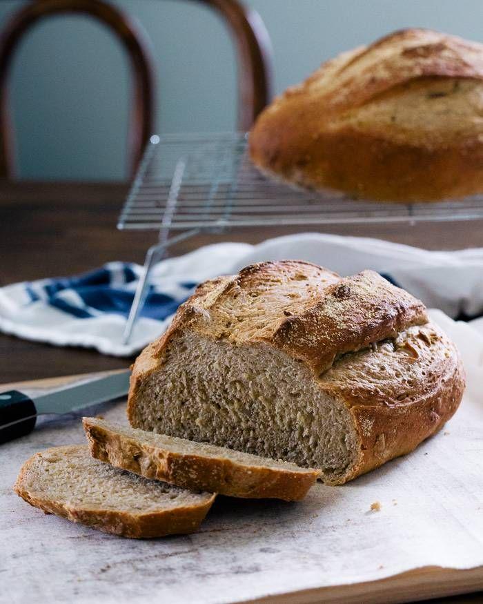 Multi-Grain Artisan Bread (No Knead)   Recipe