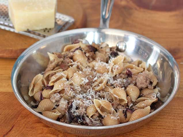 Whole Wheat Pasta With Sauteed Radicchio And Sausage Recipes ...