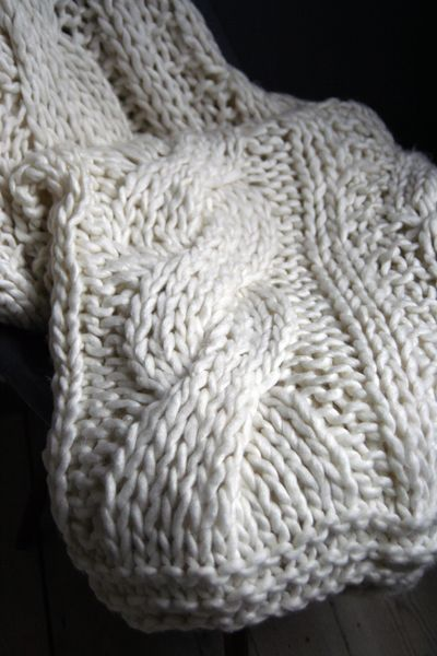 Chunky Hand Knitted Throw Blanket By Andrew Martin