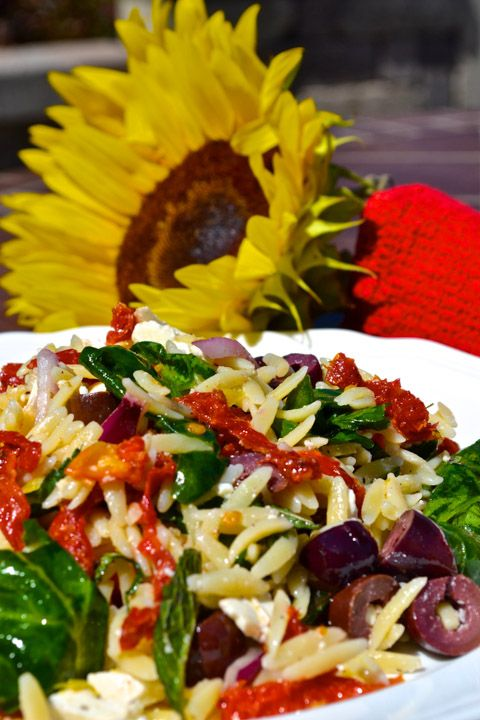 Spinach and Orzo salad | Salads | Pinterest