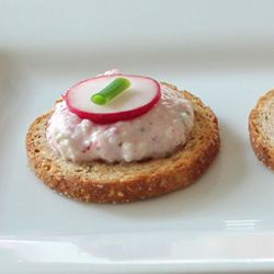 "Radish Dip for my information... uses ""quark"" a german cream cheese."