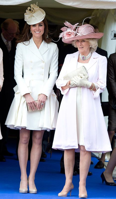 Catherine, Duchess of Cambridge and Camilla, Duchess of Cornwall attend the annual Order of the Garter Service at St George's Chapel, Windsor Castle on June 18, 2011 in Windsor, England.