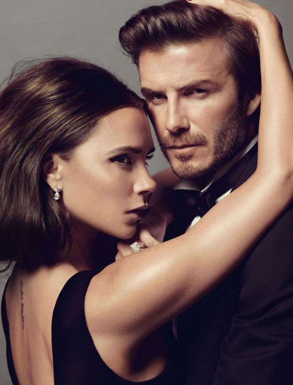 la modella mafia Victoria Beckham & David Beckham x Vogue Paris December January 2013-2014 photographed by Inez van Lamsweerde & Vinoodh Mat...