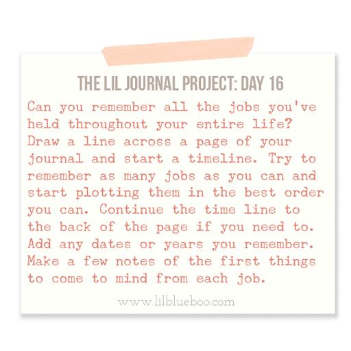 The Lil Journal Project Day 16 (Mapping out where you've worked) via liblueboo.com