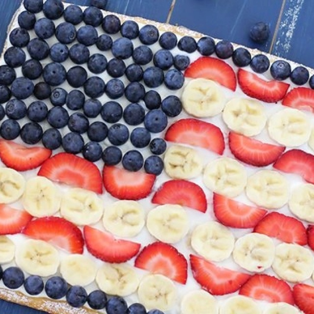 fourth of july fruit cupcakes