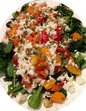 roasted squash pepita salad | Fruits and Veggies | Pinterest
