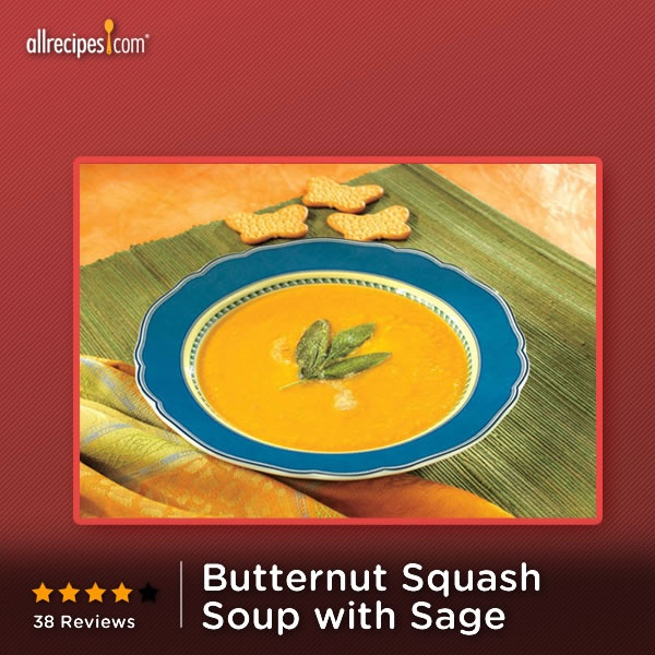 This Butternut Squash Soup with Sage makes a delicious start to any # ...