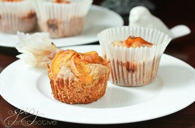 Mini Apricot Cake Recipe Made with a Rustic Cornmeal Cake Batter