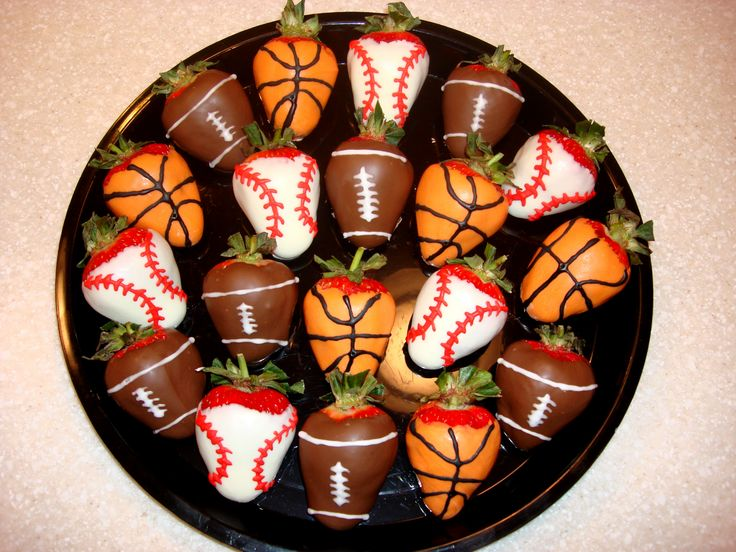 Sports Chocolate Covered Strawberries | Desserts | Pinterest