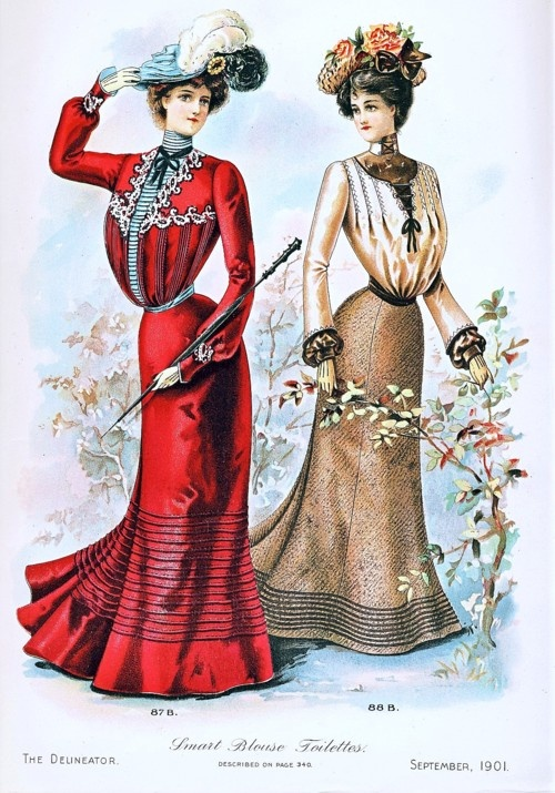 Day dresses, 1901 US, the Delineator
