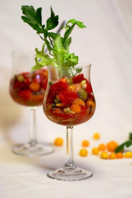 Cajun Bloody Mary Tomato Salad | salads | Pinterest