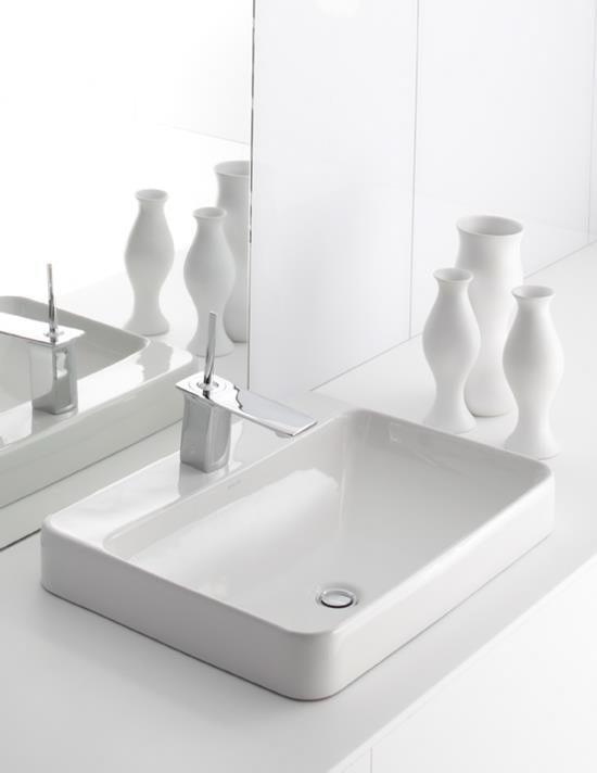 Kohler Vox Sink : Kohler Vox Rectangular Vessel Sink with Faucet Deck