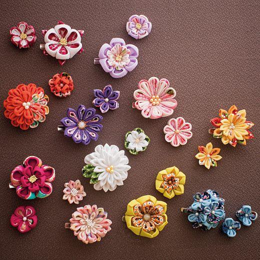 すべての折り紙 折り紙 飾り : つまみ細工の花 | art | Pinterest