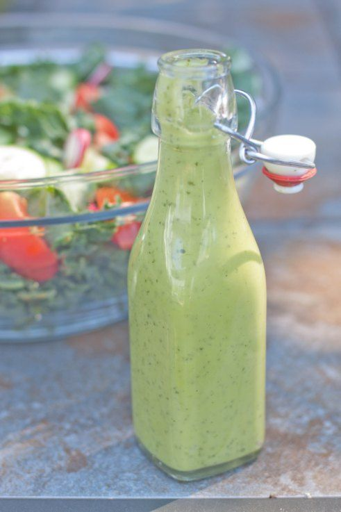 Vegan Green Goddess Dressing | Snackity Snacks :D | Pinterest