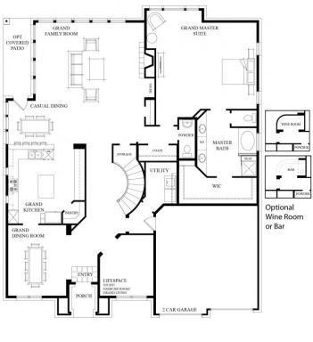 Residential floor plans house design for Home builder interactive floor plans
