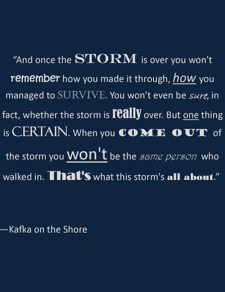 kafka on the shore 850 quotes from kafka on the shore: 'memories warm you up from the inside but they also tear you apart.