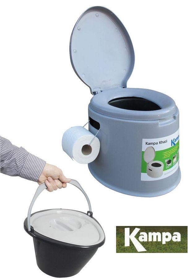 Portable toilet khazi loo camping caravan chemical tent for Toilettes chimiques portables