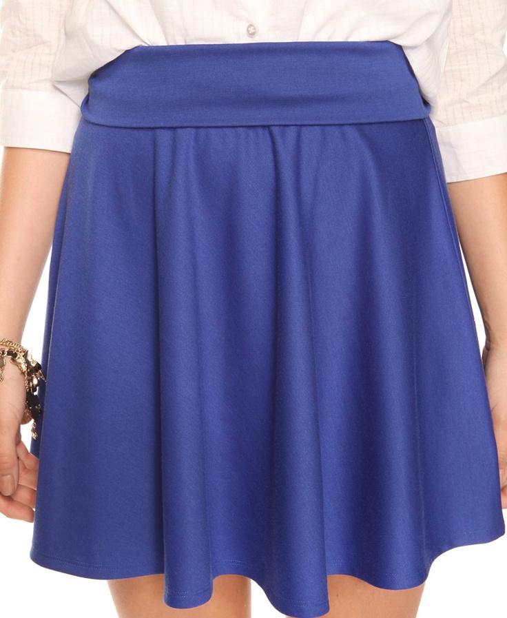 royal blue knit skirt 12 forever21 go blue