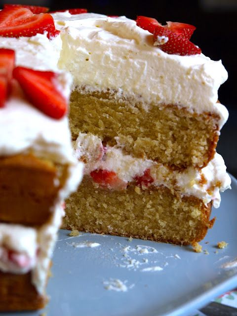 Strawberries & Cream Buttermilk Cake | Recipe