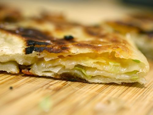 Scallion Pancakes + Cheddar Cheese = Awesome