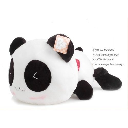 valentine panda pillow pet