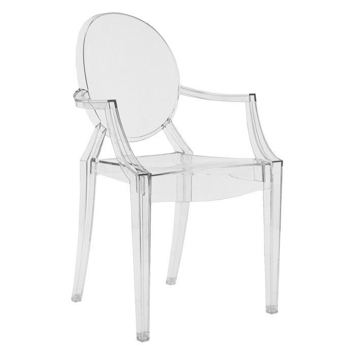 Kartell lou lou ghost dining chair decor details for Decoration kartell