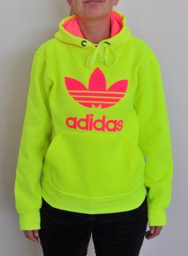 trefoil women neon sweatshirt cute hair and clothes pin