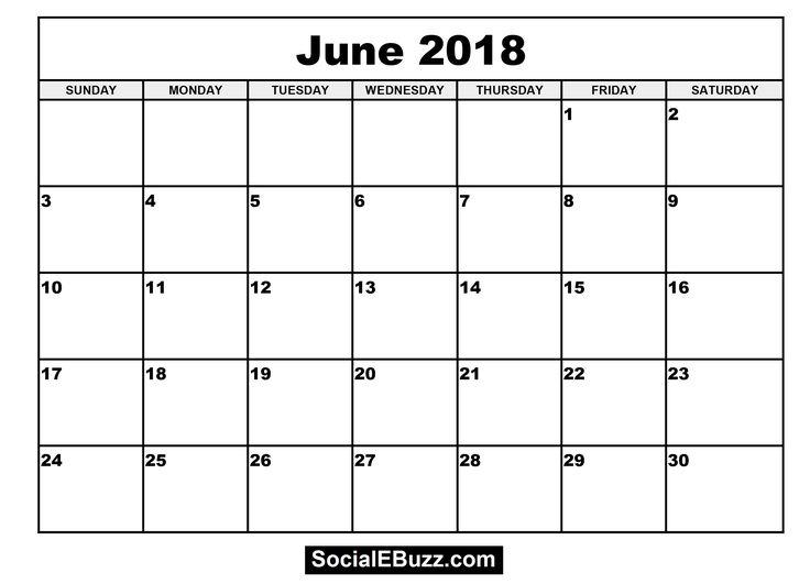 13 best June 2018 Calendar images on Pinterest | Calendar ...