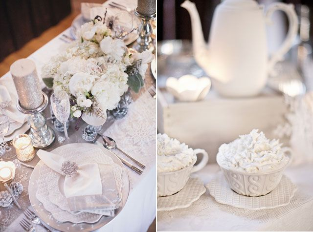 mariage hiver deco blanche neige  MARIAGE HIVERNAL : winter wedding ...