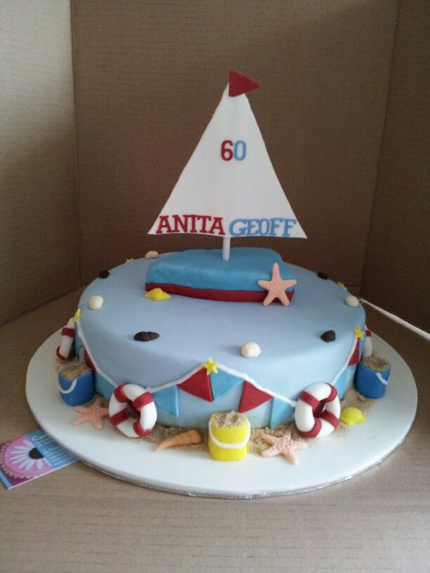 Sailing nautical boat birthday cake Carmine Cakes ...