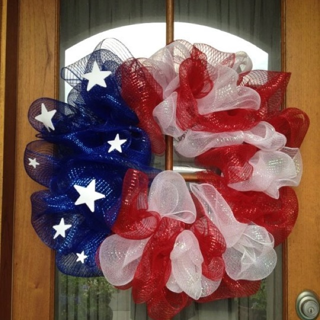 4th of july wreath decorations