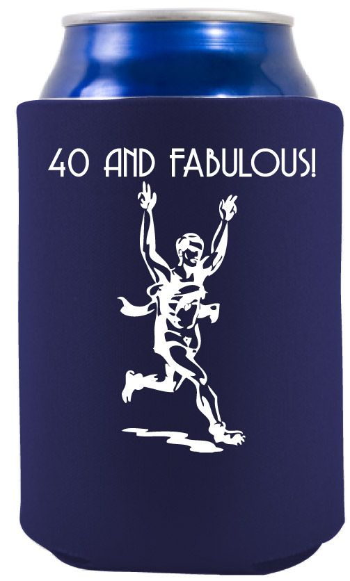 ... - 40th Birthday Party Ideas - Gift for runner's - Runner Koozie