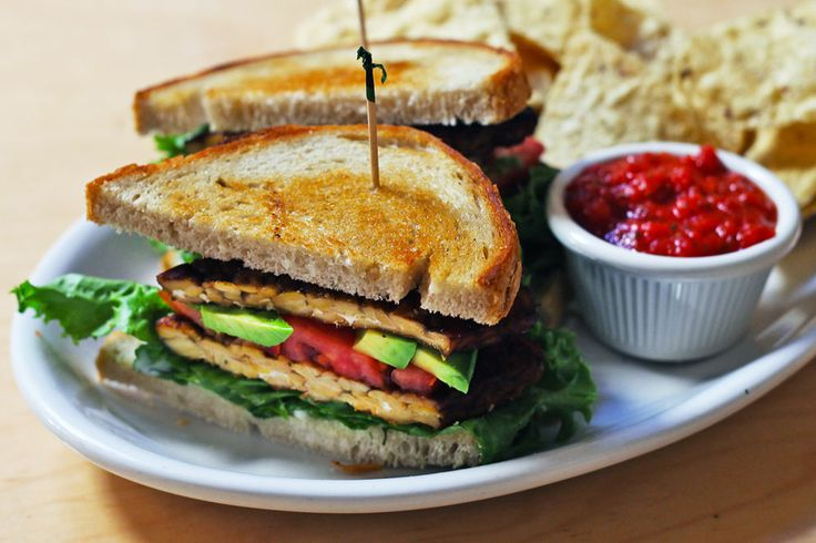 TLT Sandwich - tempeh, lettuce, tomato, avocado, and garlic aioli ...
