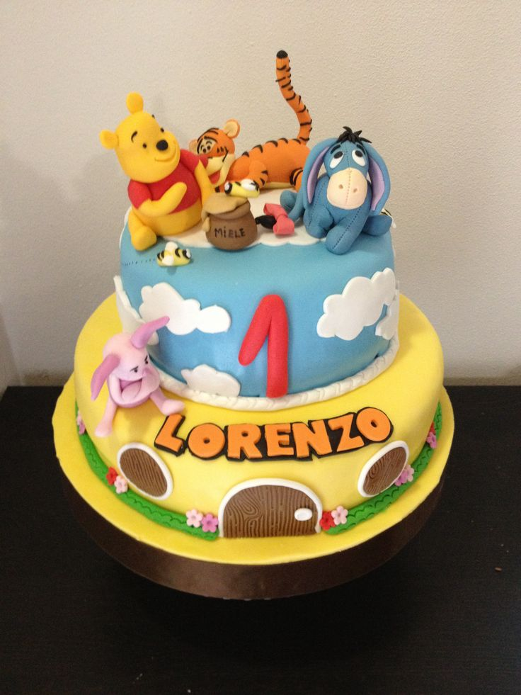 Winnie Pooh cake (Made by me)  :)