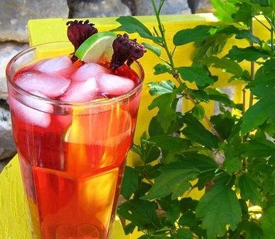 Hibiscus-Lime Sun Tea | Coffee & Tea | Pinterest
