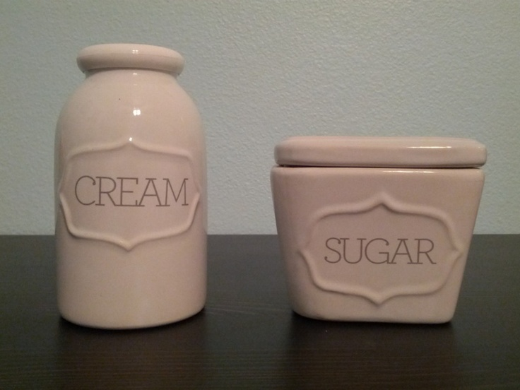 Cream and sugar set $4.99 at target