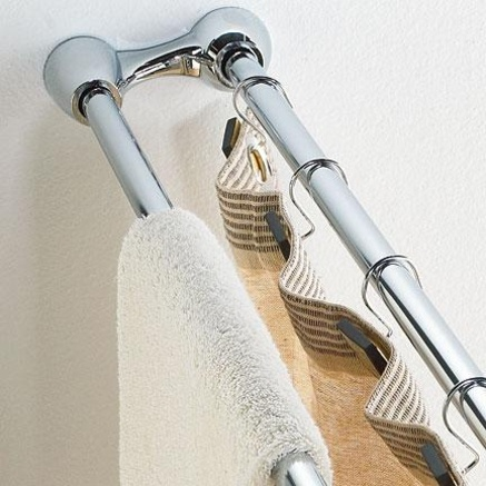 Whole Home MD Dual Tension Shower Curtain Rod