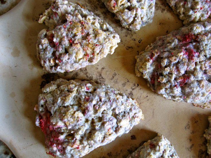 raspberry, orange, and oat scones (from gingerandjam.com)