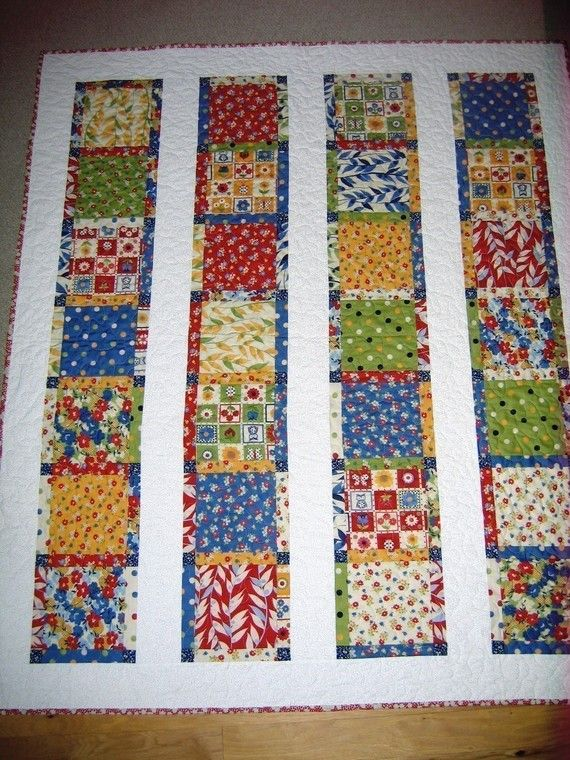 QUILT PATTERN, Lap or Twin Coverlet size.... Easy and Quick, one Laye?