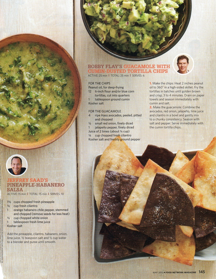 Pineapple Habanero Salsa and Guacamole with Cumin-Dusted Tortilla ...