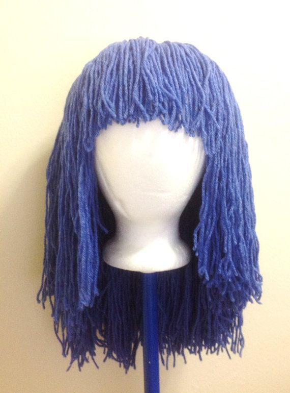 Handmade Crochet yarn Hair wig Pattern ,Tutorial PATTERN, babies, kids ...