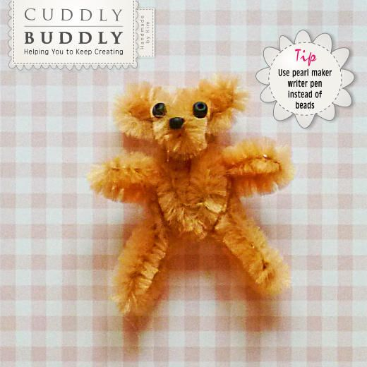 quick amp easy pipe cleaner teddy bear