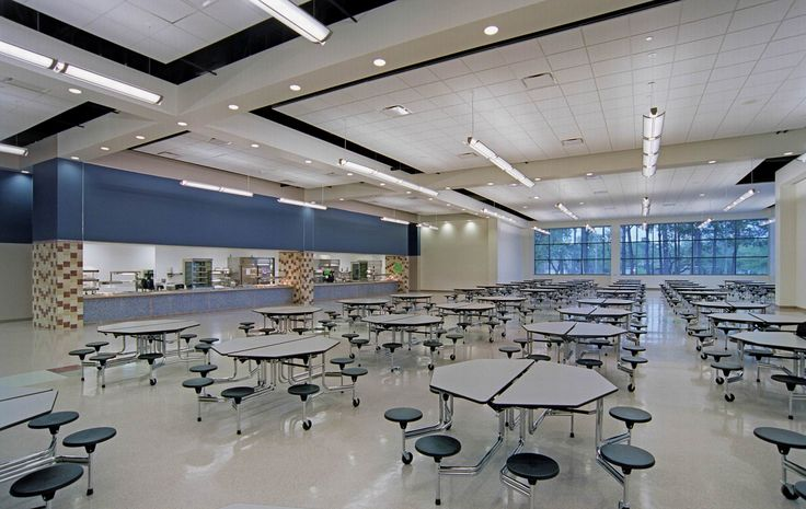 School Cafeteria PGAL Pershing Middle