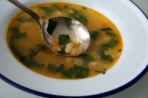 Navy Bean Soup With Kale, Preserved Lemon, And Harissa Recipe ...