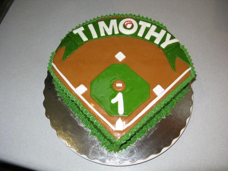 baseball field birthday cakes