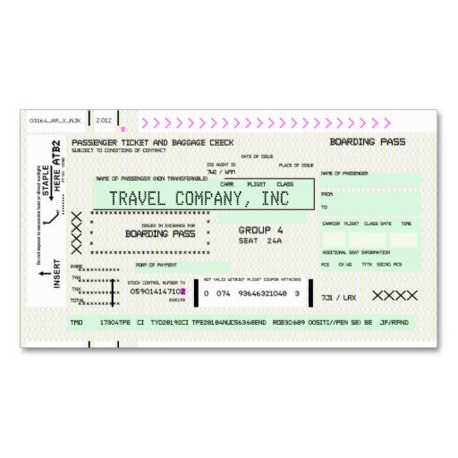 Custom Card Template boarding card template : Customizable Boarding Pass Business Cards. This is a fully ...