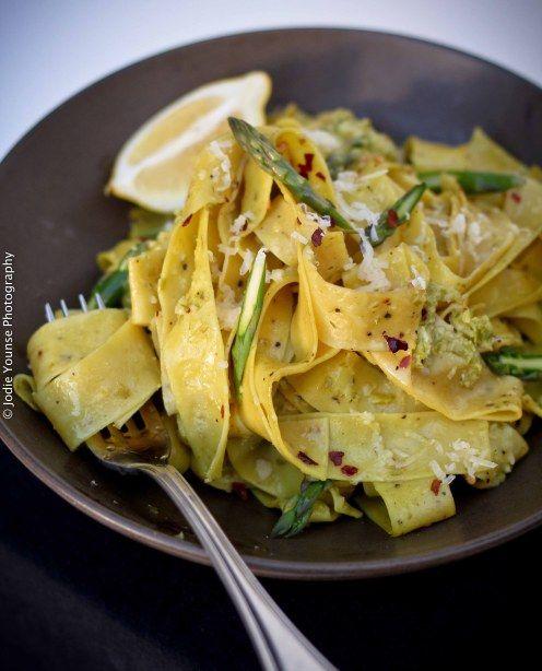 Asparagus Pesto Pasta | Recipes - Dinner - To Try | Pinterest