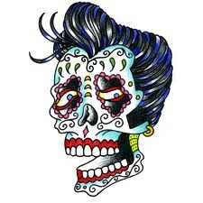 Sugar Skull Elvis Greaser Sugar Skull